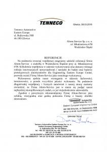 Referencje Tenneco